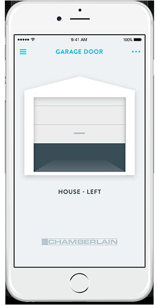 Wink chamberlain myq garage door opener for App to open garage door