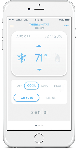 wink robots your sensi thermostat